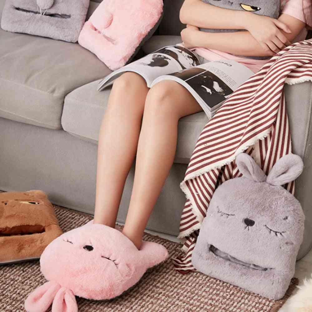 Usb Electric Heating Pad Rabbit Warm Foot Feet Slippers Winter Hand Warmer Sofa Chair Heater