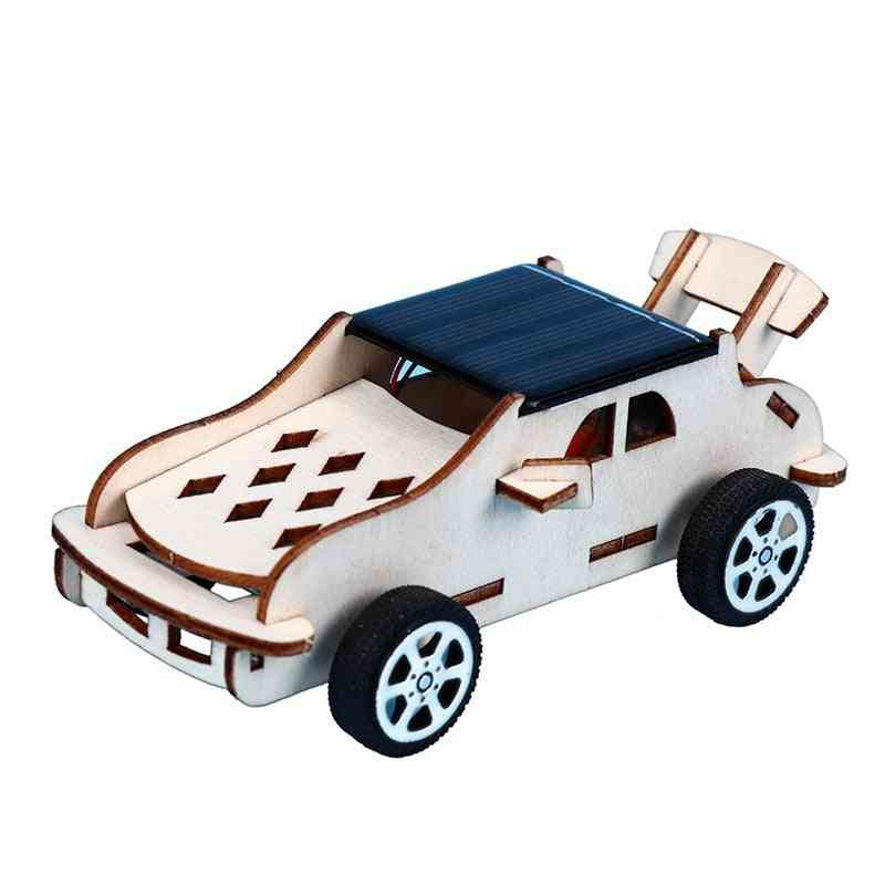 3d Wooden Puzzle Solar Car Toy Assembly Kit