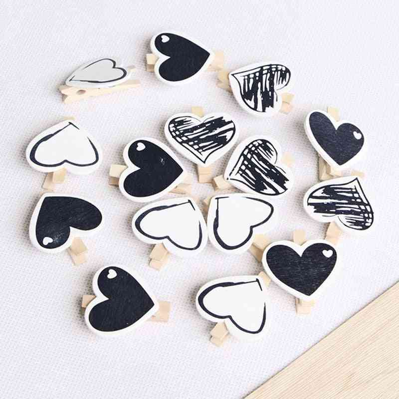 Big Wood Clothes Pegs Clothespin Clips, Office Party Decoration Accessories