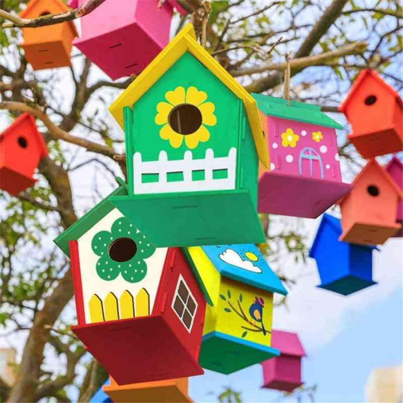 Wooden Bird House For Home, Garden Decoration