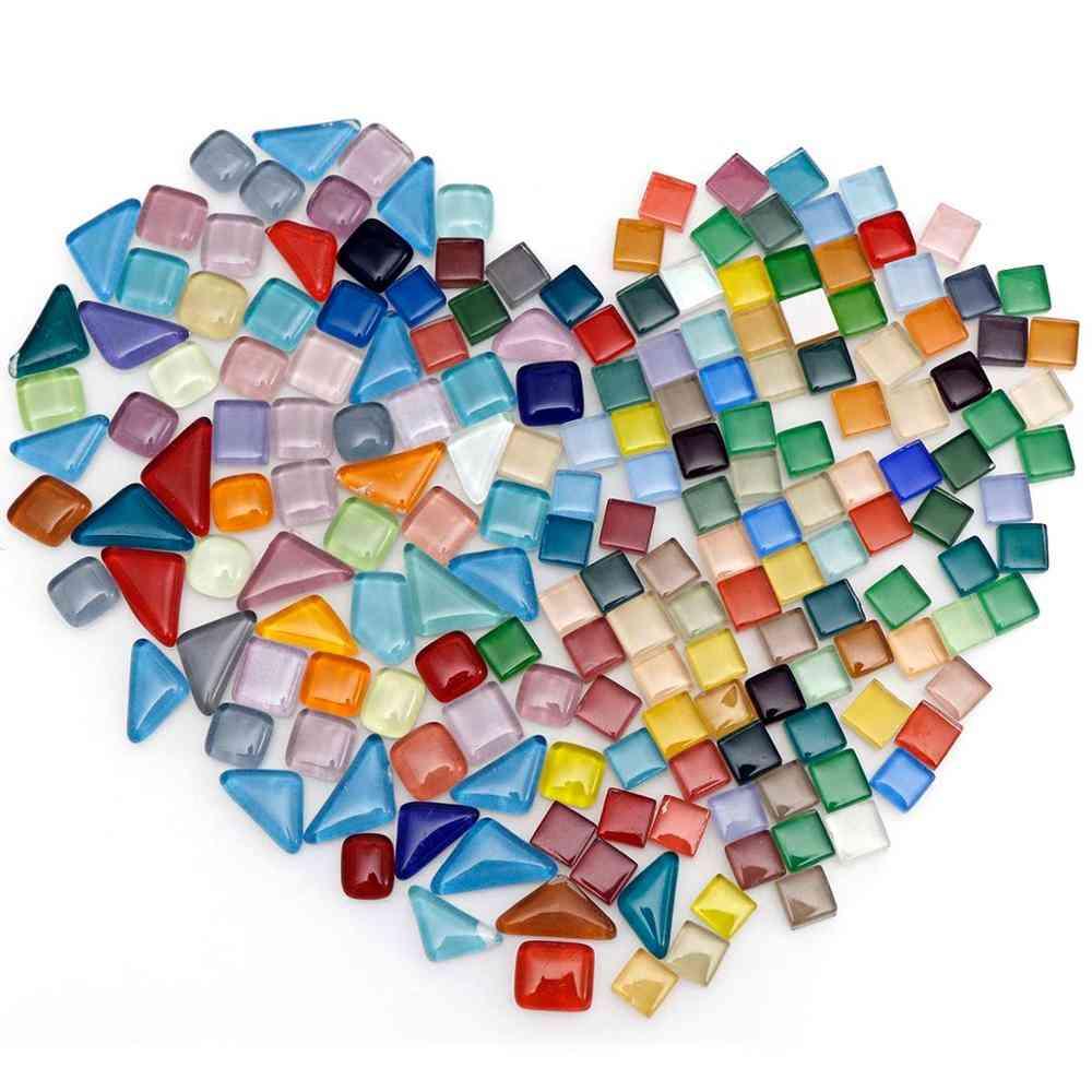 Geometric Figures Mini Crystal Mosaic Glass Tiles