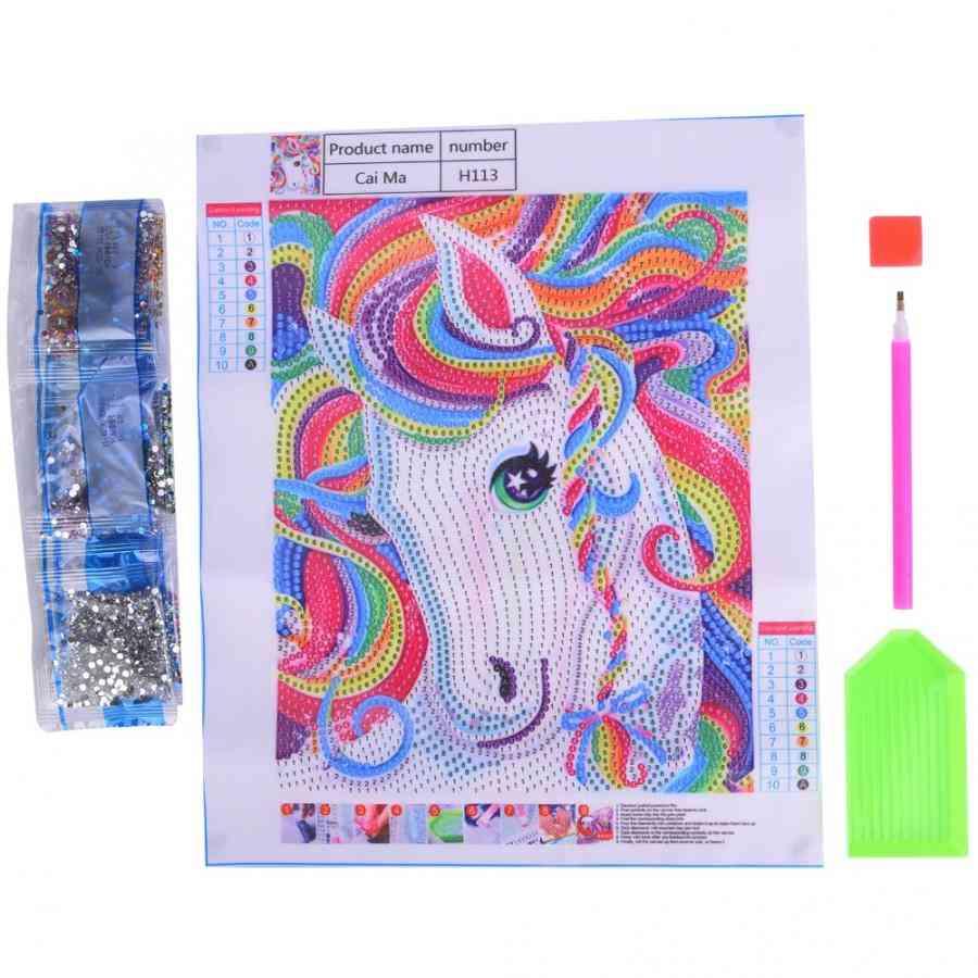Diamond Painting Coloured Horse