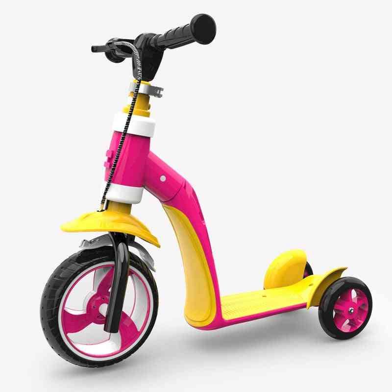 Infant Shining Kid Bike, Balance Ride On Car Toy, 2 In 1 Scooter, Bicycle, 3 Wheels, Baby Walker, And