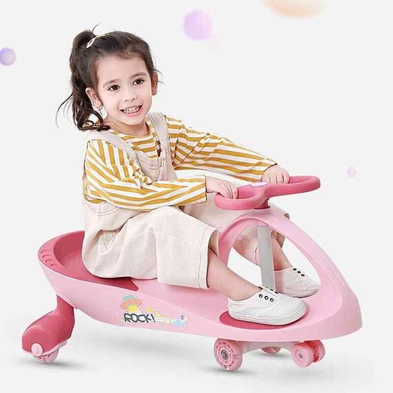 Kids Swing Car, Wheel Anti Rollover