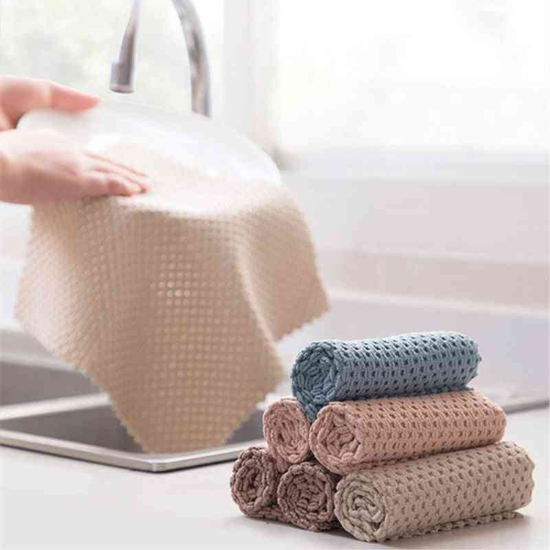 Kitchen Anti-grease Wipping Rags Cleaning Cloth