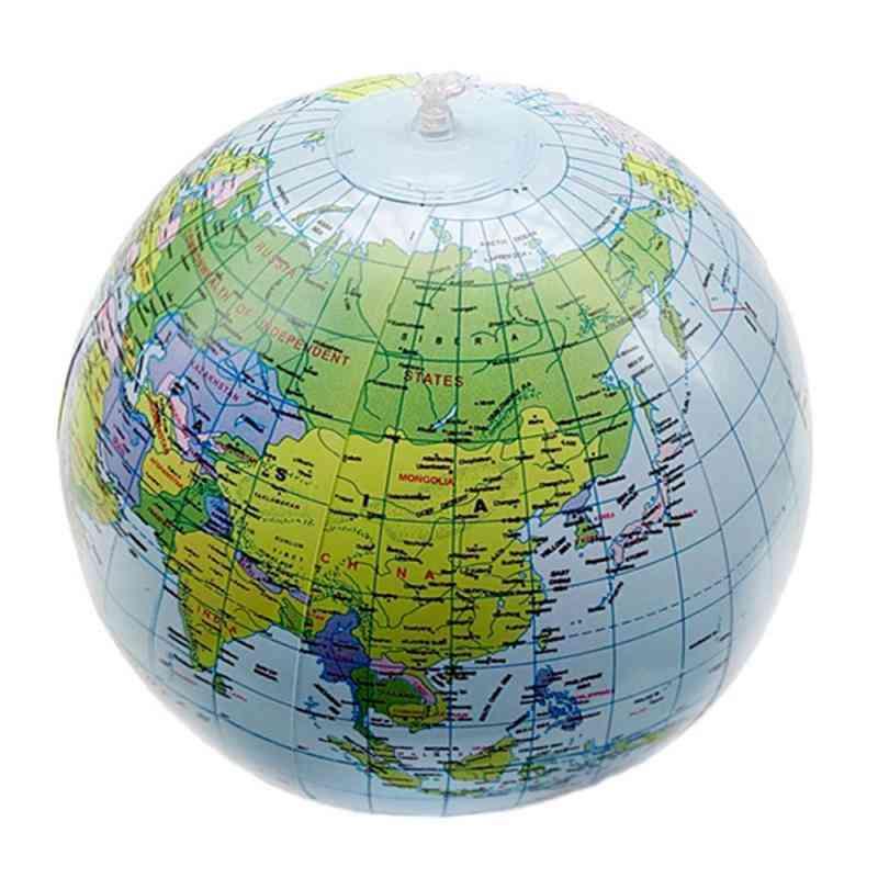 1pcs 30cm Inflatable World Globe Map Ball