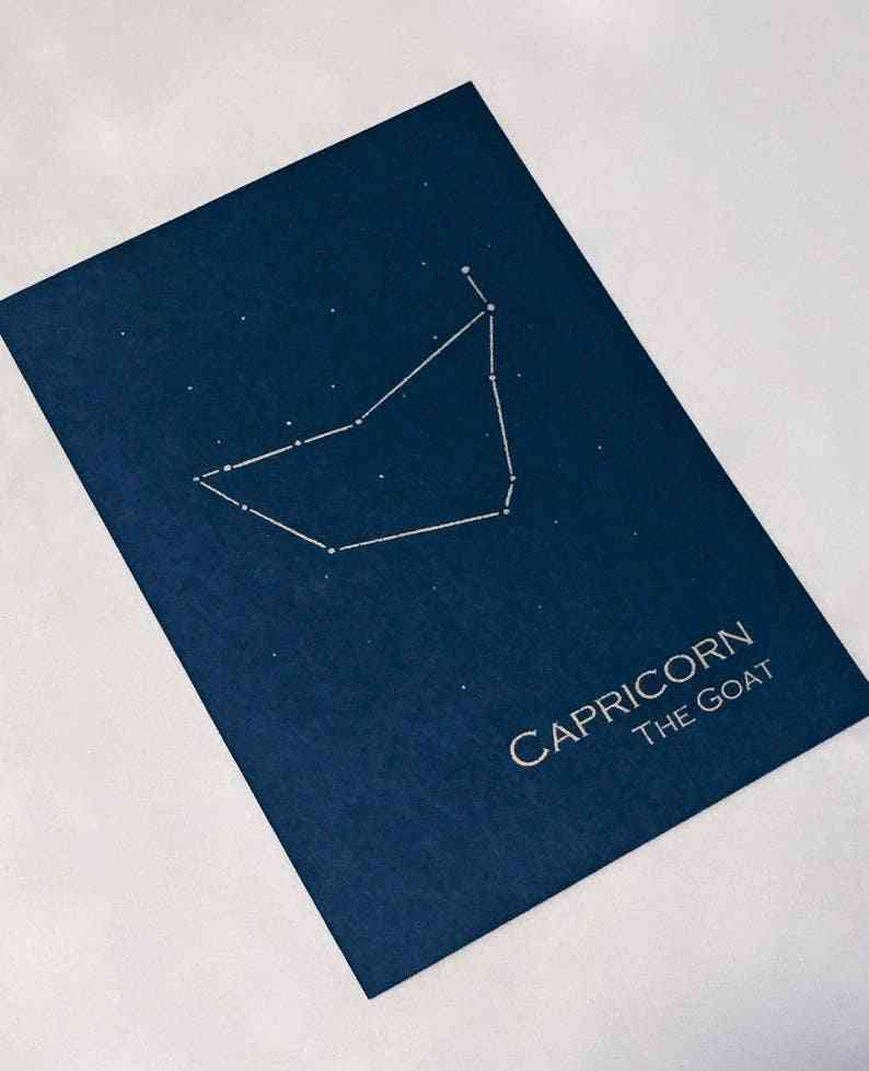 Capricorn Constellation Zodiac Art Print