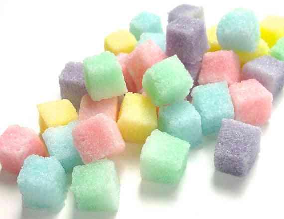 Pastel Colored Sugar Cubes