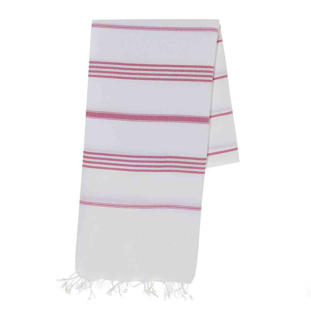 Classic Rose Stripe Turkish Towel