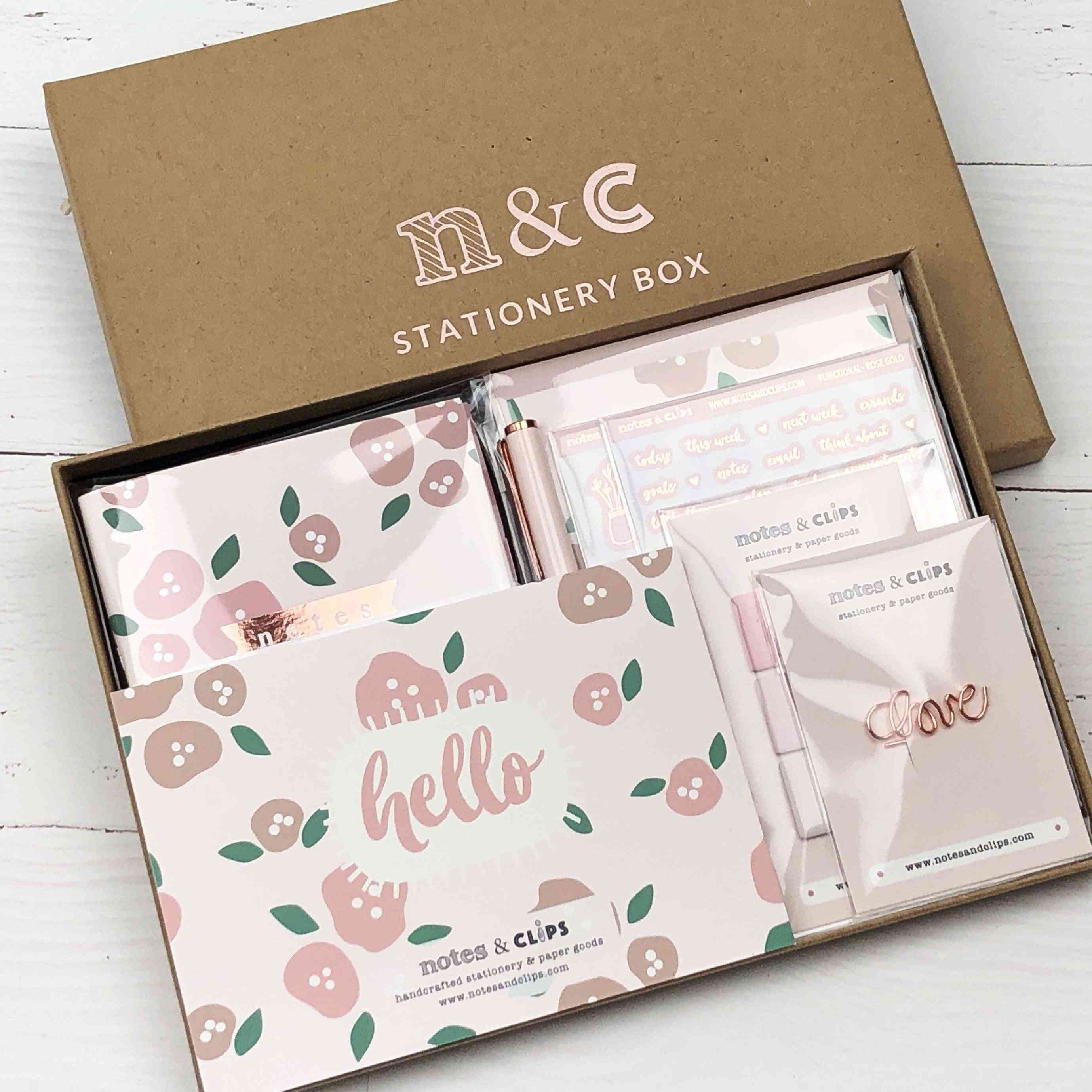 Stationery Box Blush Floral