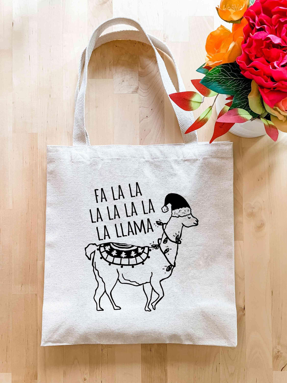 Fa La La La La La La La Llama Print - Holiday Tote Bag