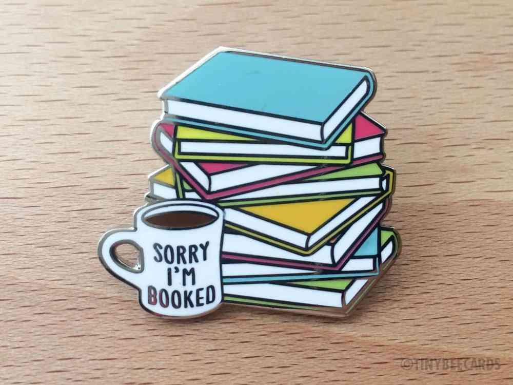 Book Lover Hard Enamel Pin -