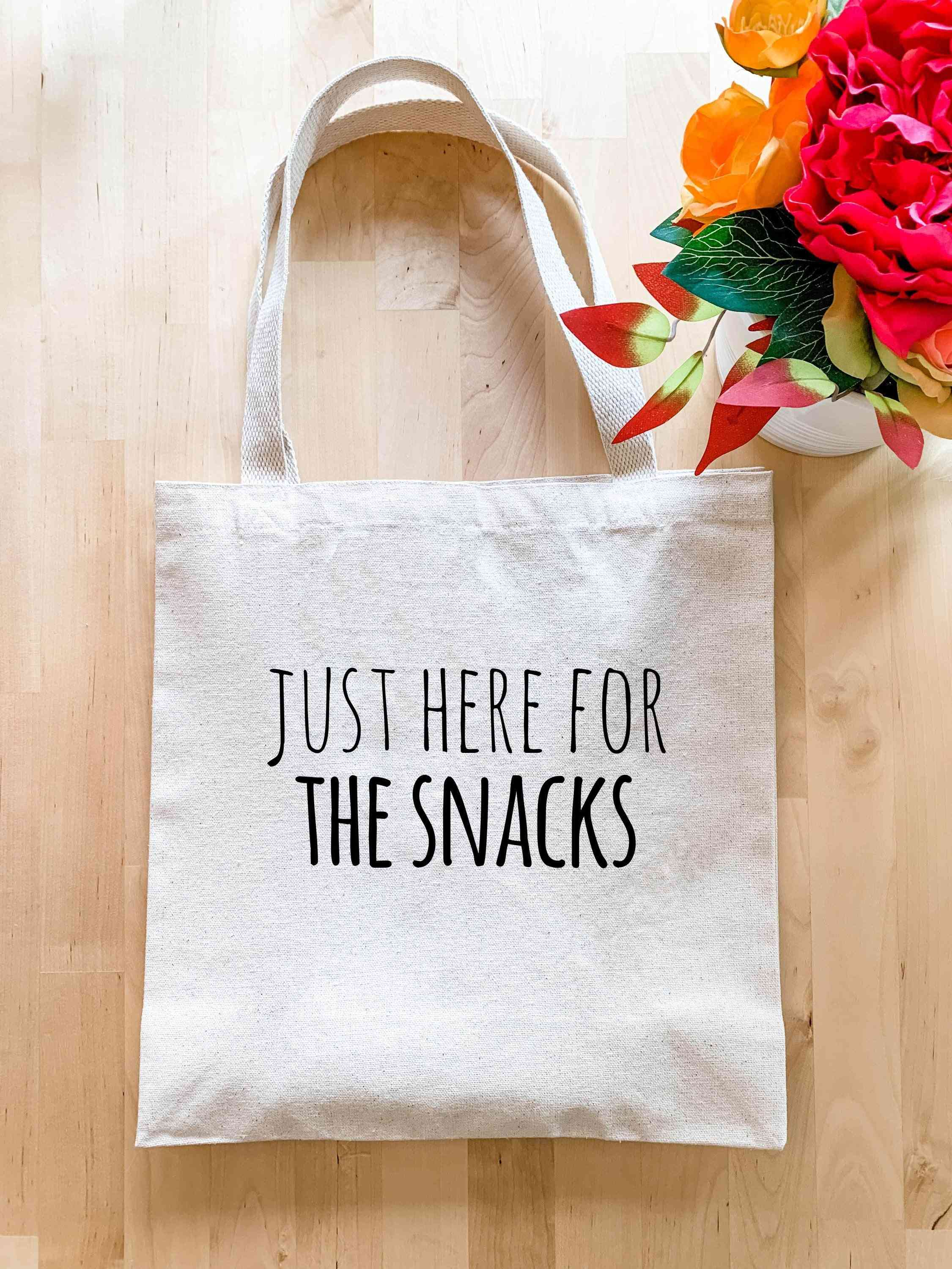 Just Here For The Snacks - Tote Bag