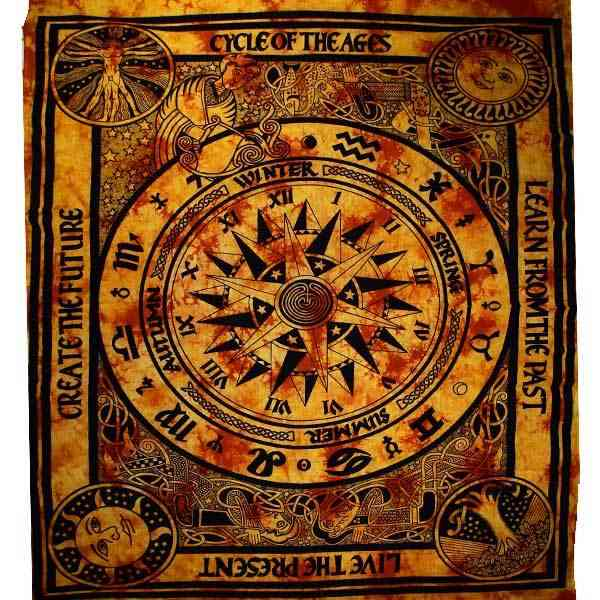 Saffron Cycle Of The Ages Tapestry