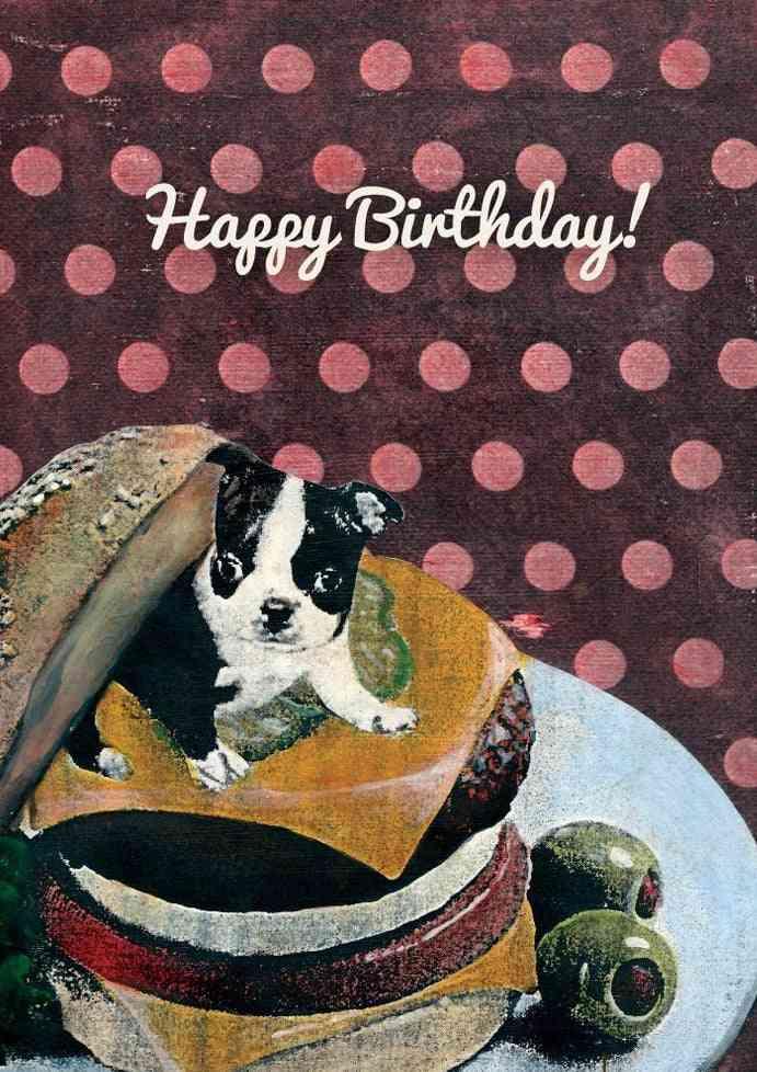 Happy Birthday Boston Terrier Birthday Card