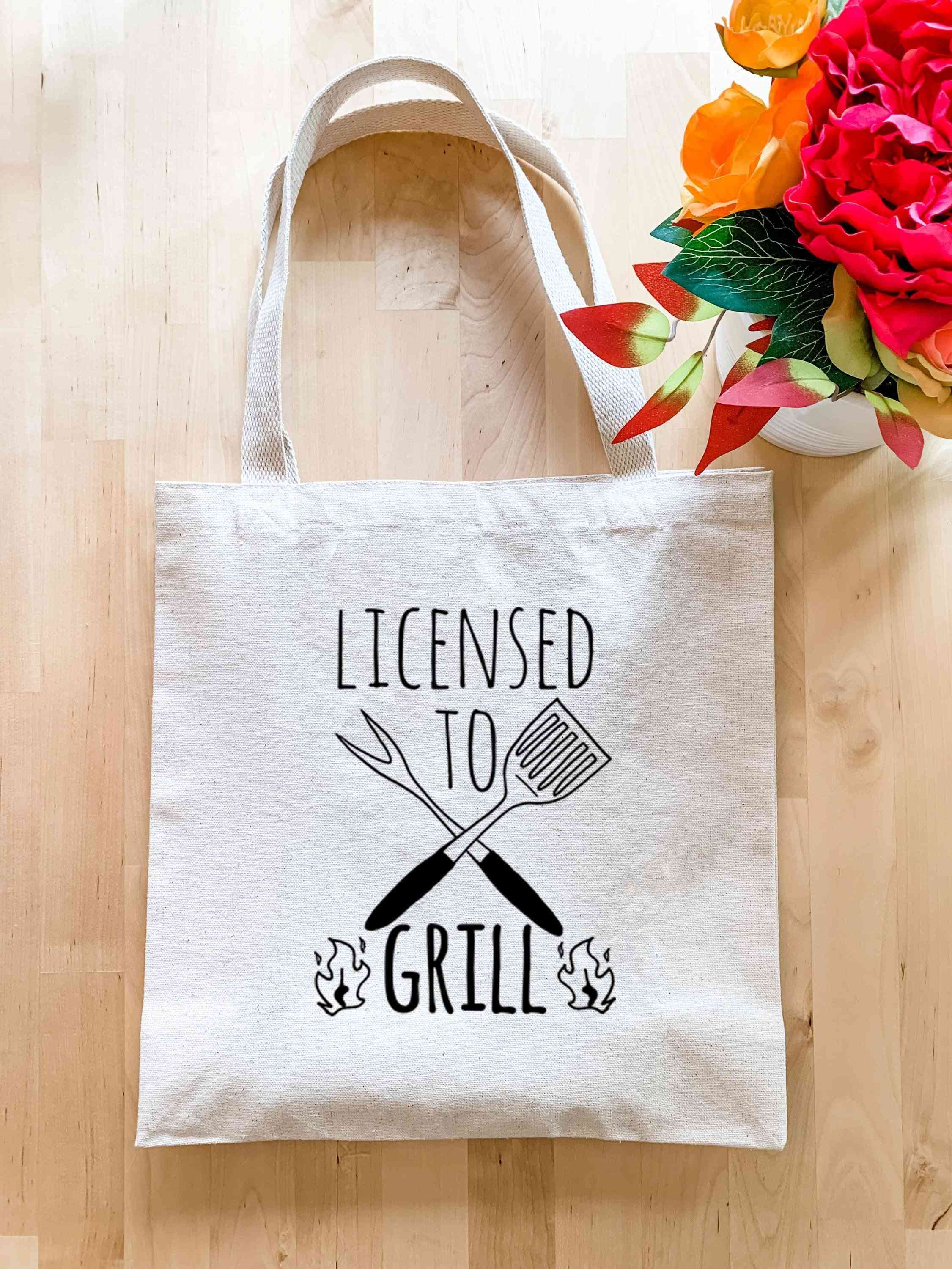 Licensed To Grill - Tote Bag