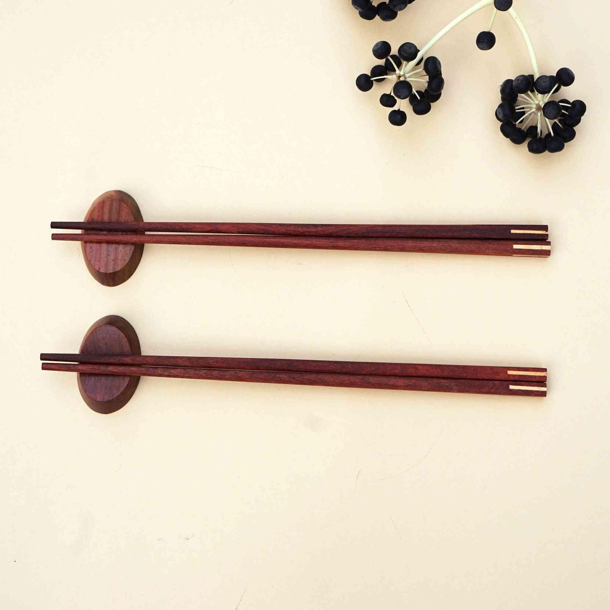 A Set Of 2 Pairs Of Handmade Wooden Chopsticks