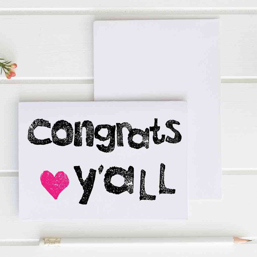 Congrats Y'all - Greeting Card