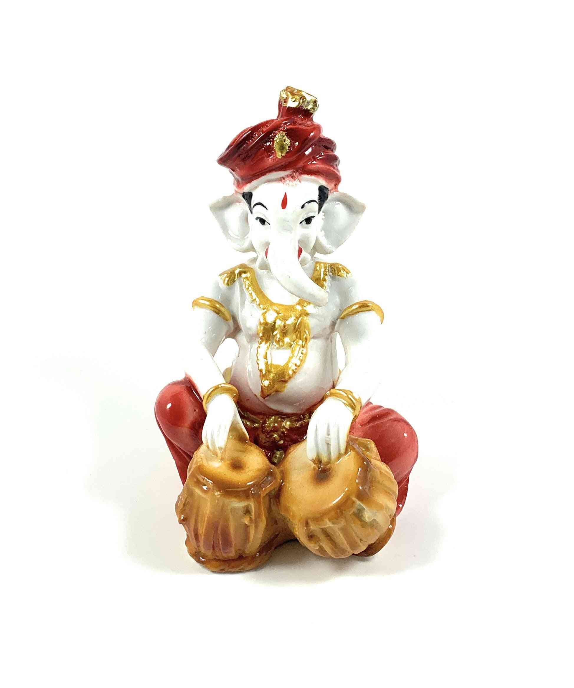 Lord Ganesha Playing Tabla Figurine