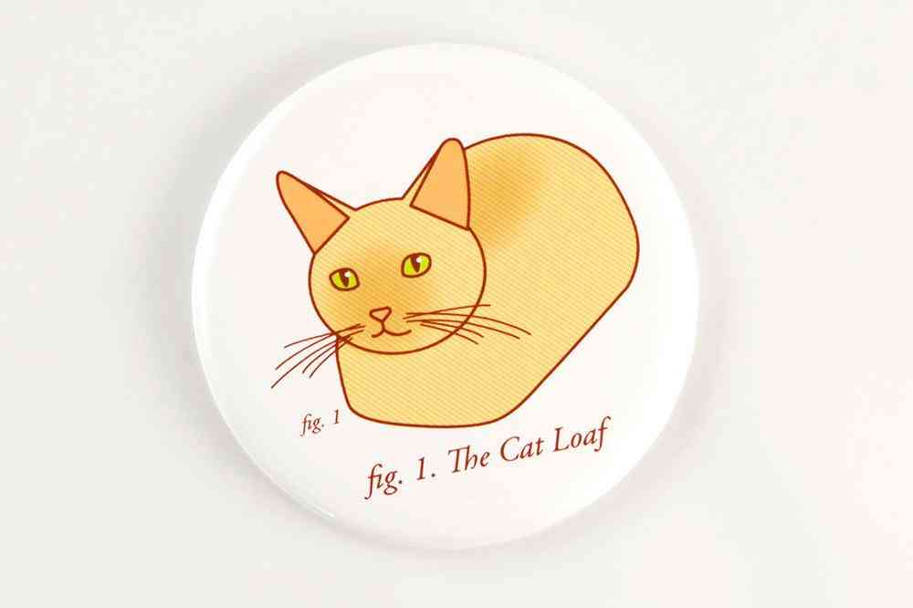 Funny Cat Loaf Magnet, Pin, Or Mirror