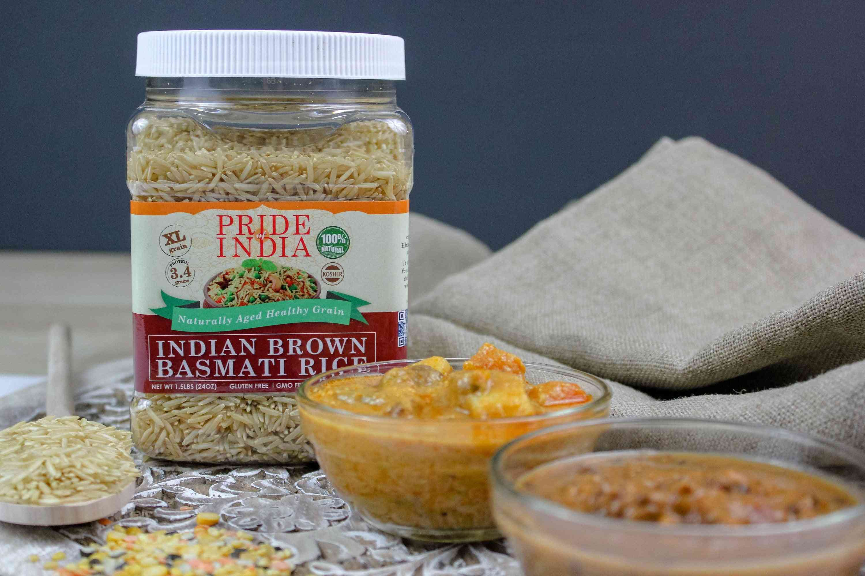 Extra Long Indian Brown Basmati Rice - Naturally Aged Healthy Grain