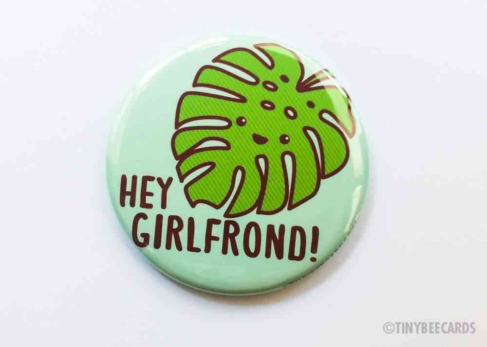 Monstera Leaf Button Magnet Pin Or Mirror
