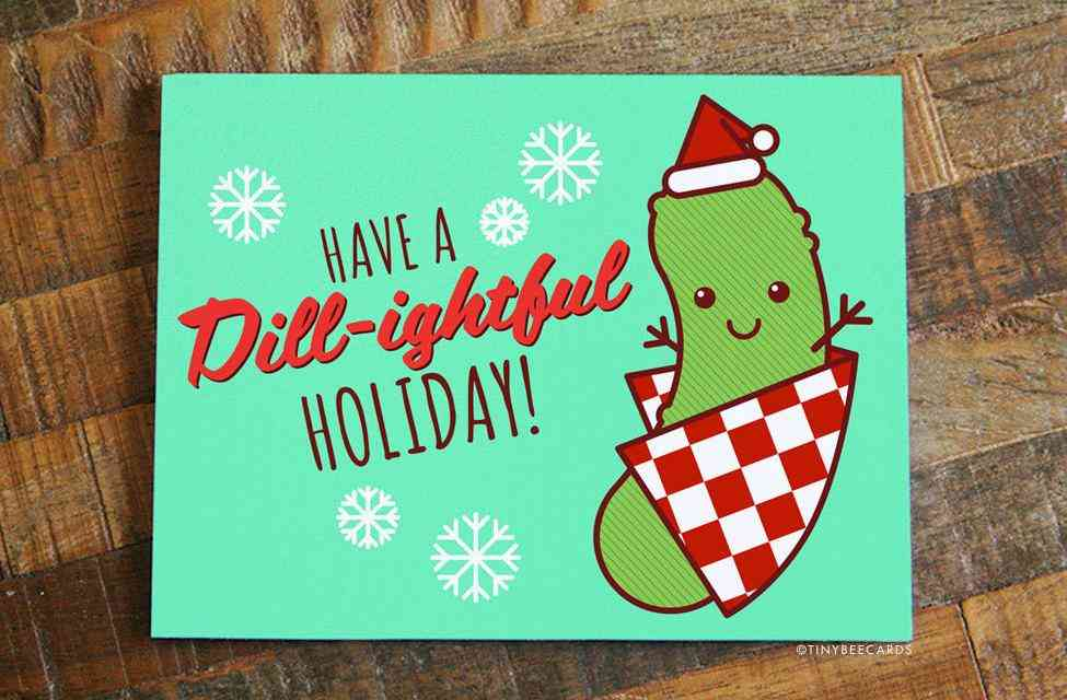 Funny Pickle Christmas Card