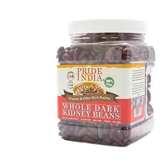 Indian Whole Dark Kidney Beans - Protein & Fiber Rich Rajma Jar