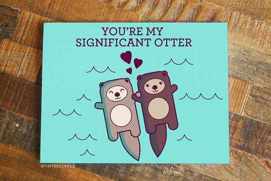 'you're My Significant Otter' - Anniversary Cute Card