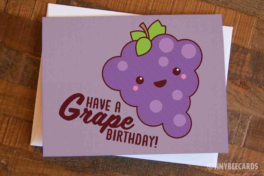 Grape Birthday Birthday Card