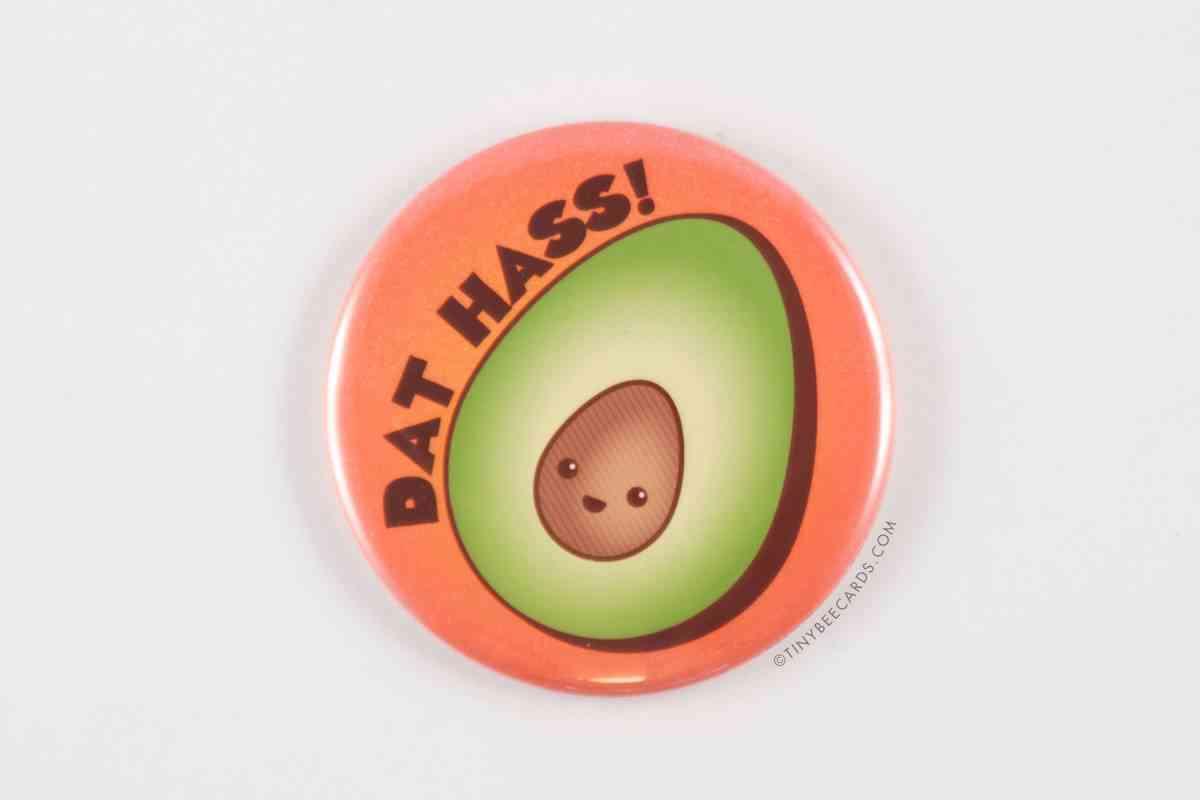 Funny Avocado Magnet, Enamel Pin, Or Pocket Mirror