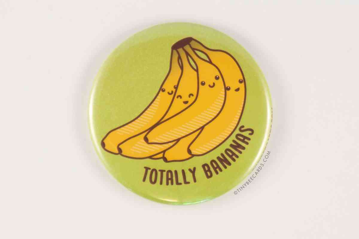 Funny Bananas Magnet, Pin, Or Pocket Mirror