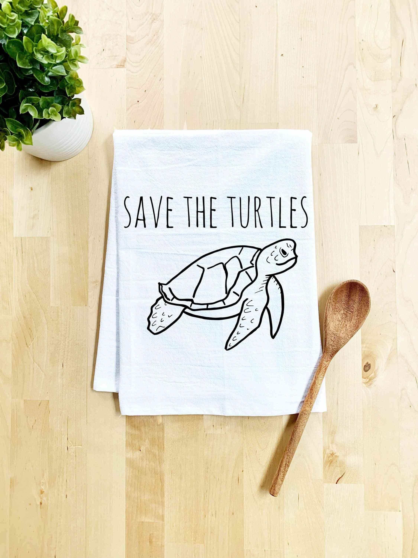 Save The Turtles Dish Towel