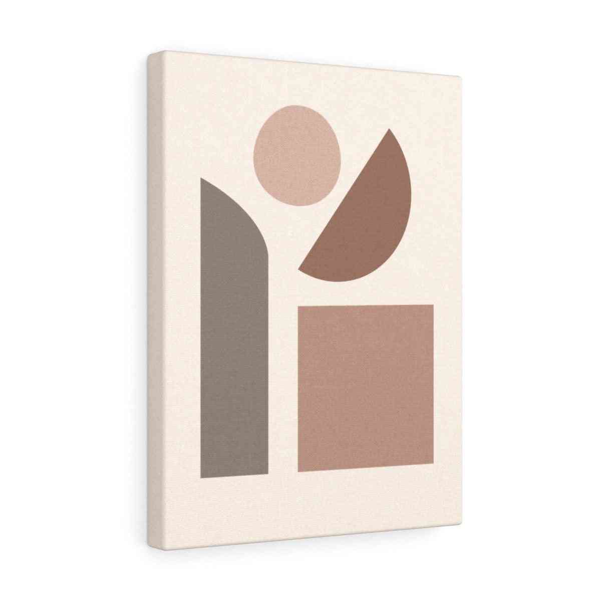 Abstraction Canvas Banner With Wooden Frame