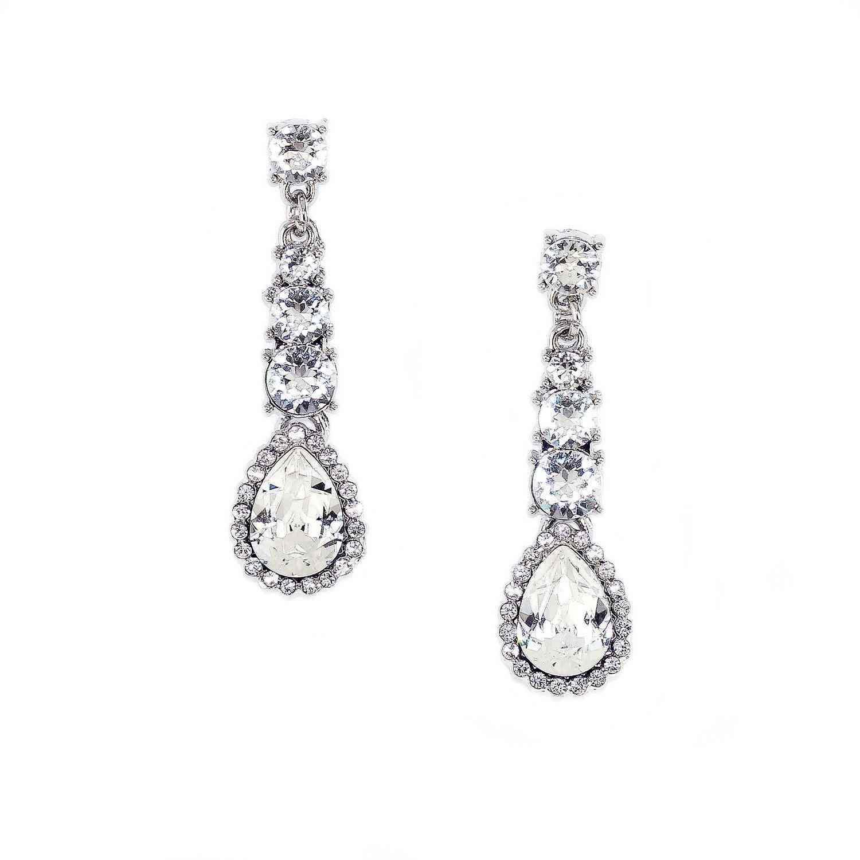 Crystal Dita Drop Earrings