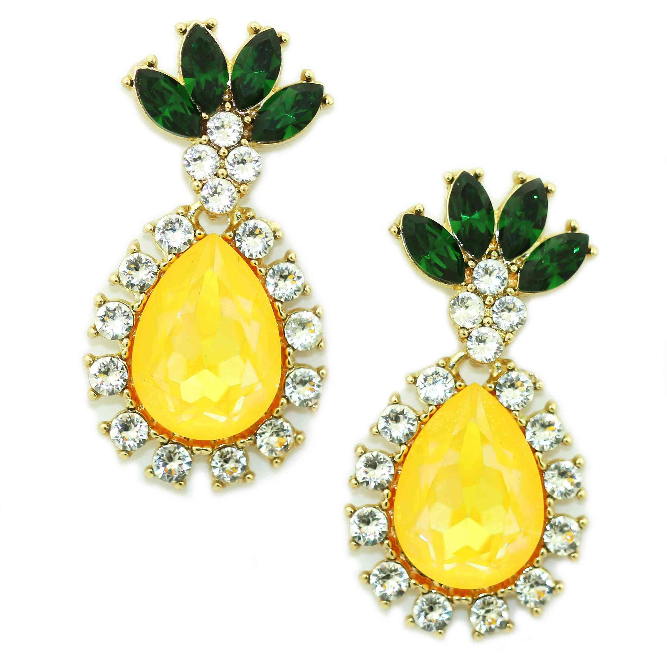 Pineapple Design Drop Earrings