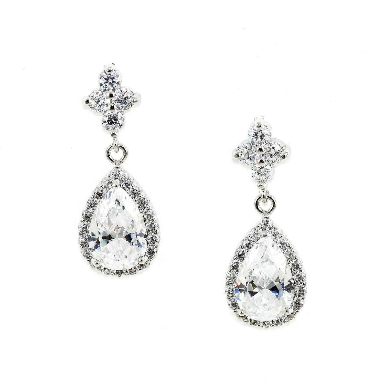 Teardrop Cubic Zirconia Crystal Earrings