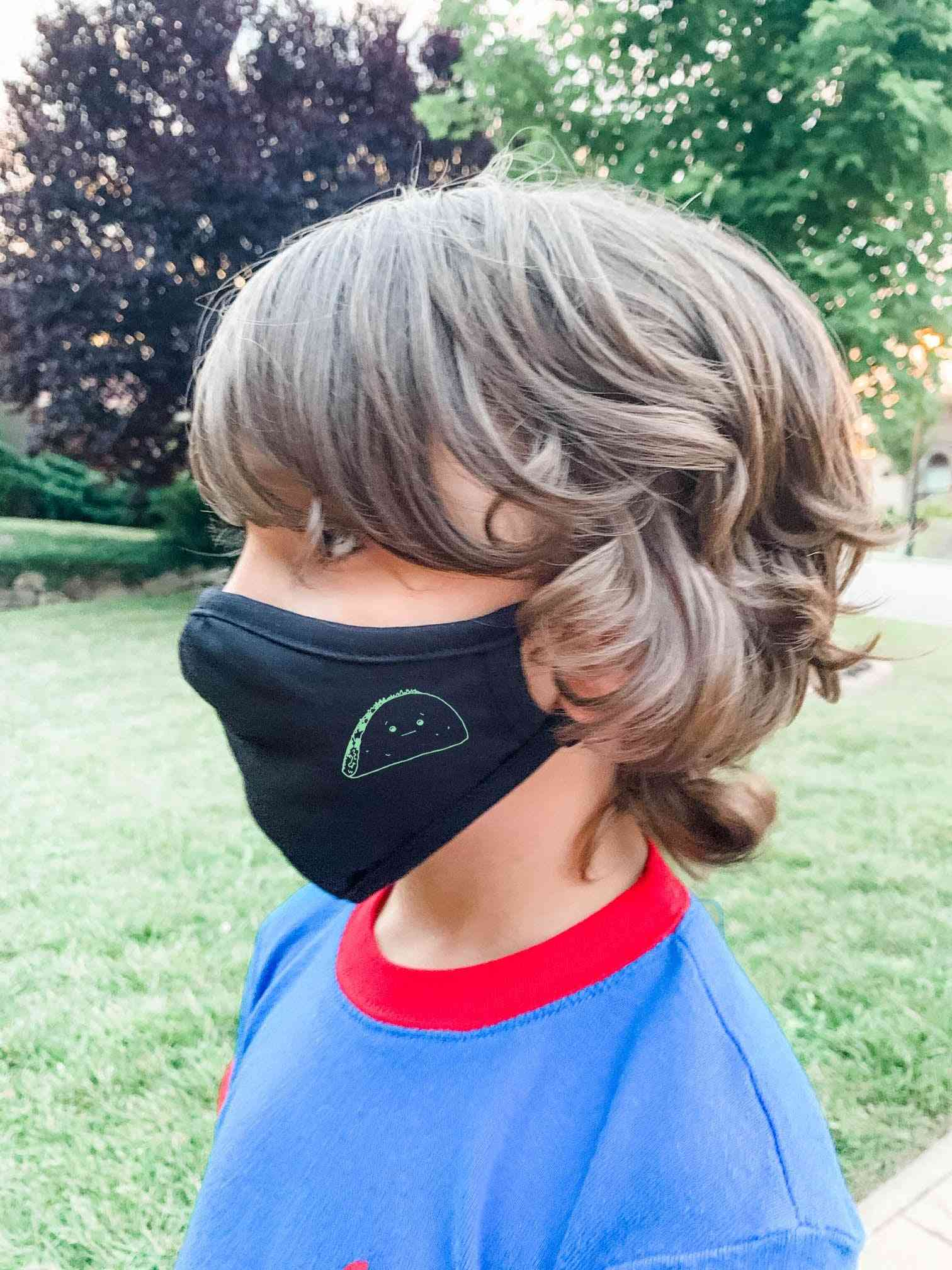 Taco Print Kids Face Mask