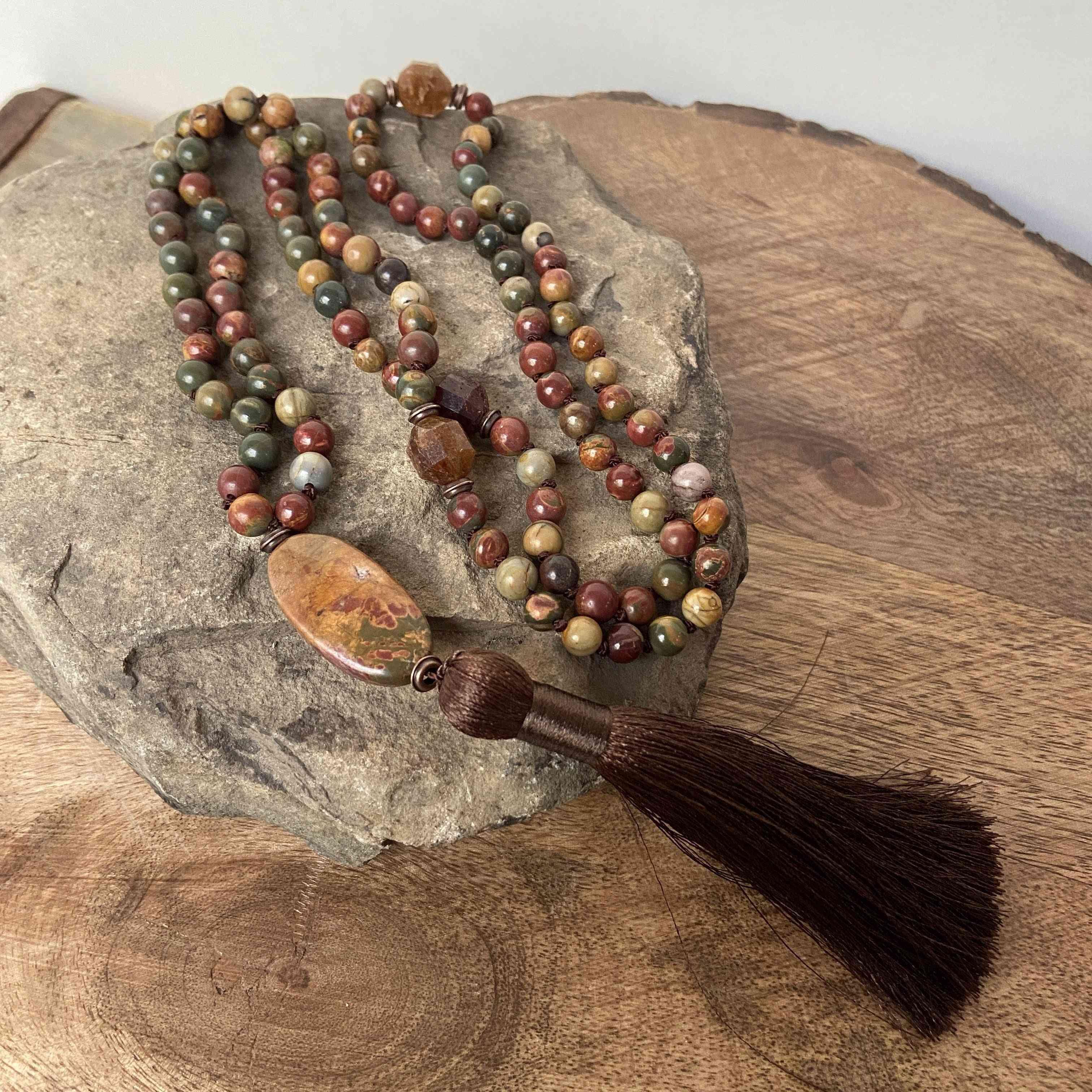 Jasper 108 Beads Mala