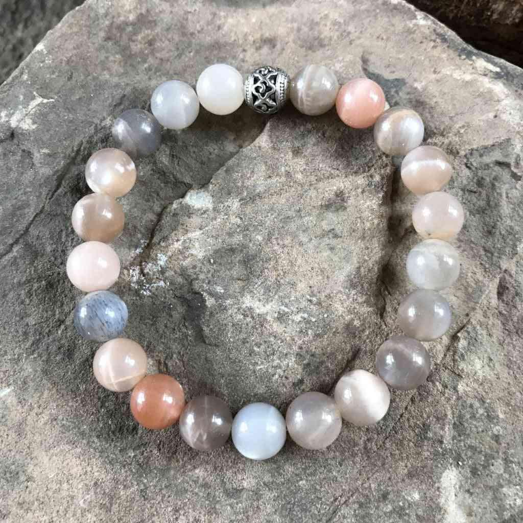 Moonstone Beads Wrist Bracelet