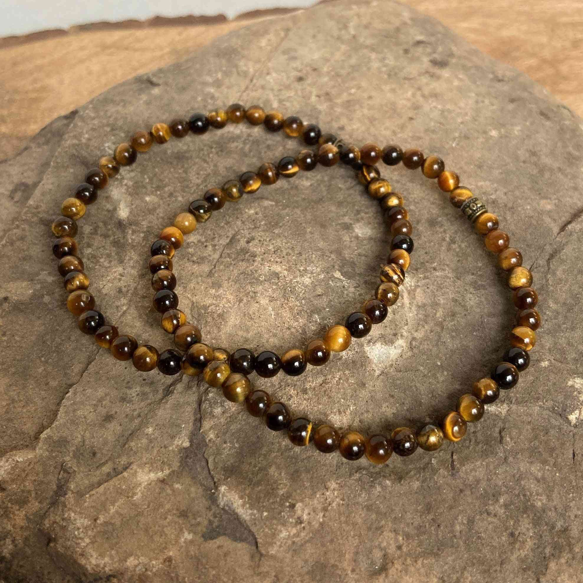 Tiger Eye Mini Bead Bracelet