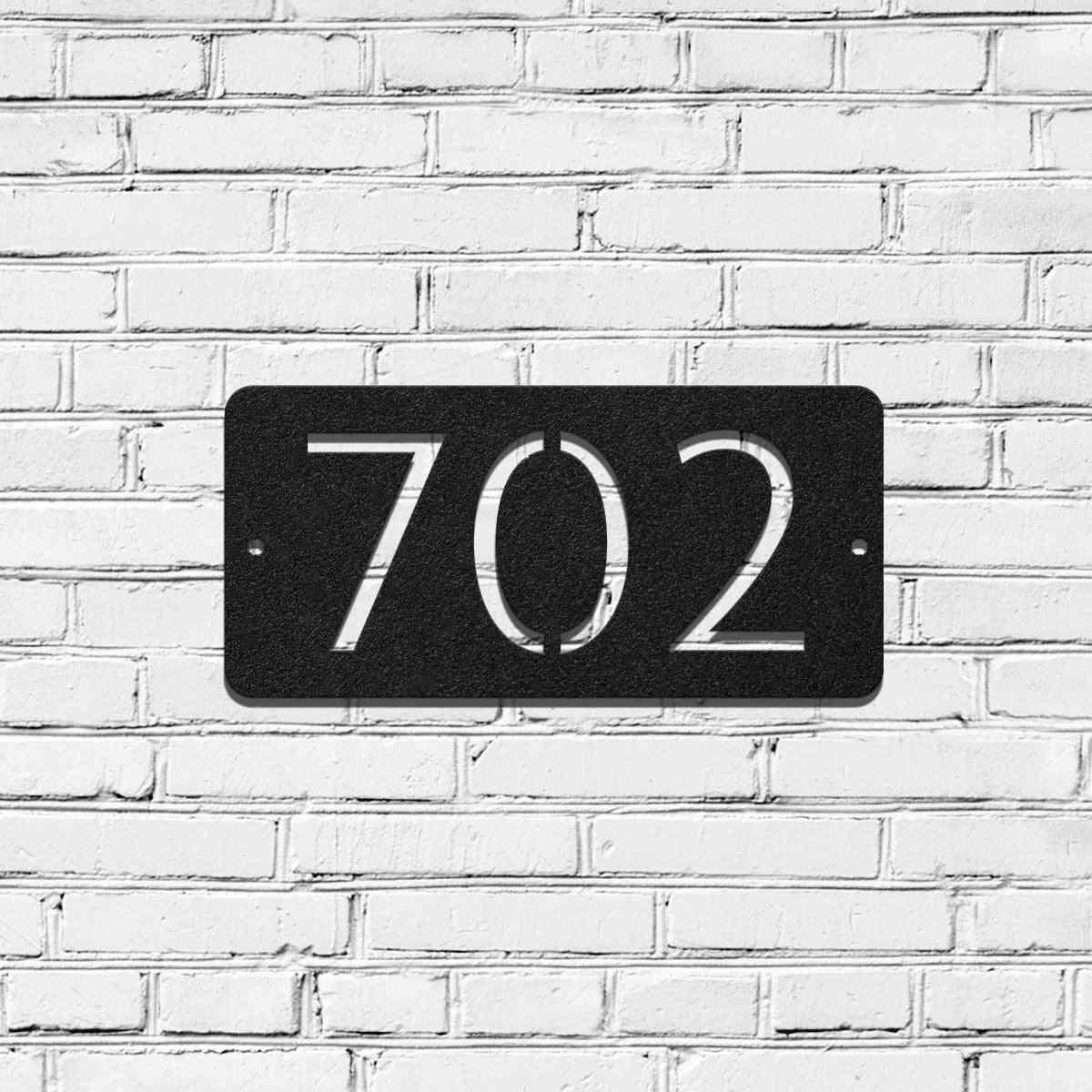Metal House Address Sign Board-horizontal Style