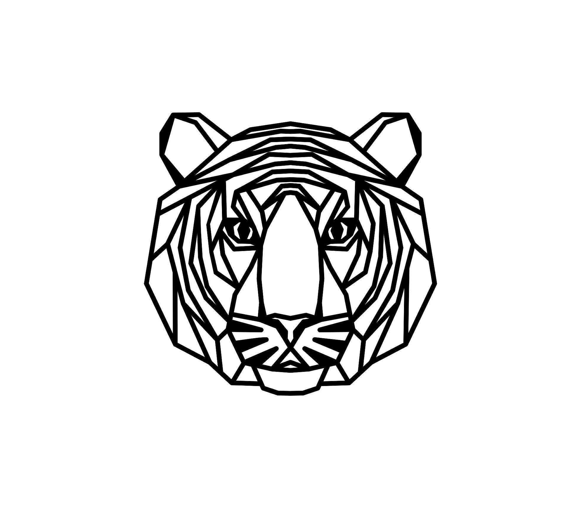 Geometric Tiger Wall Hanging