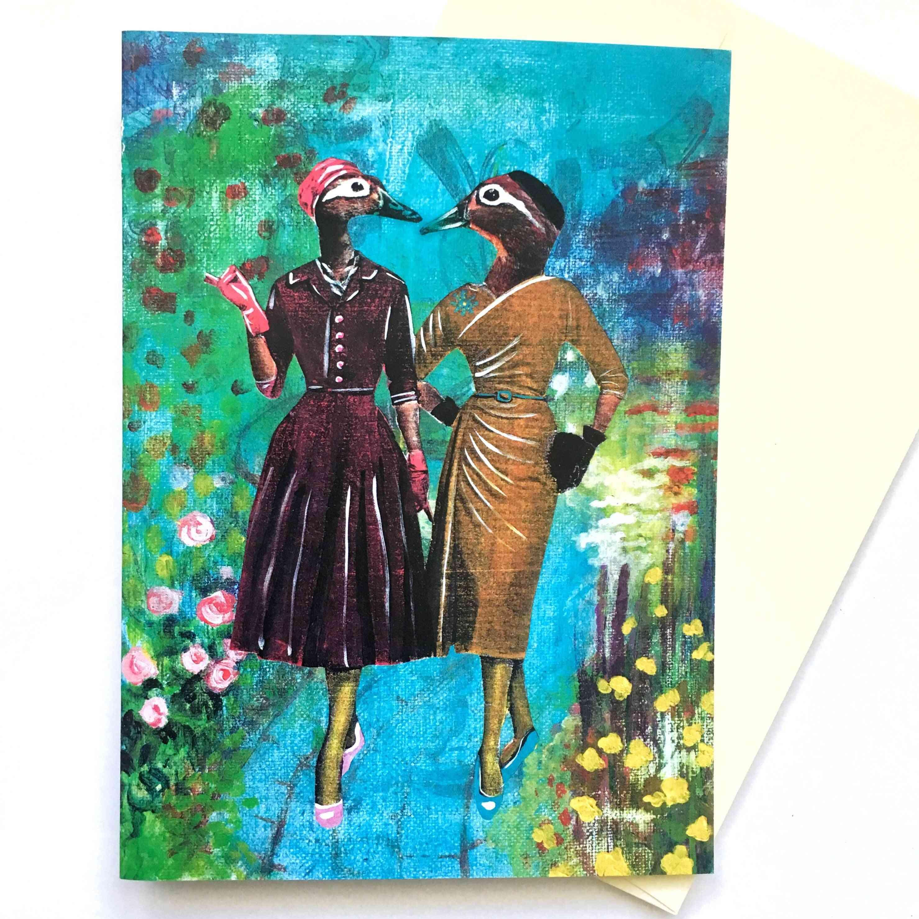 Lady Ducks Card