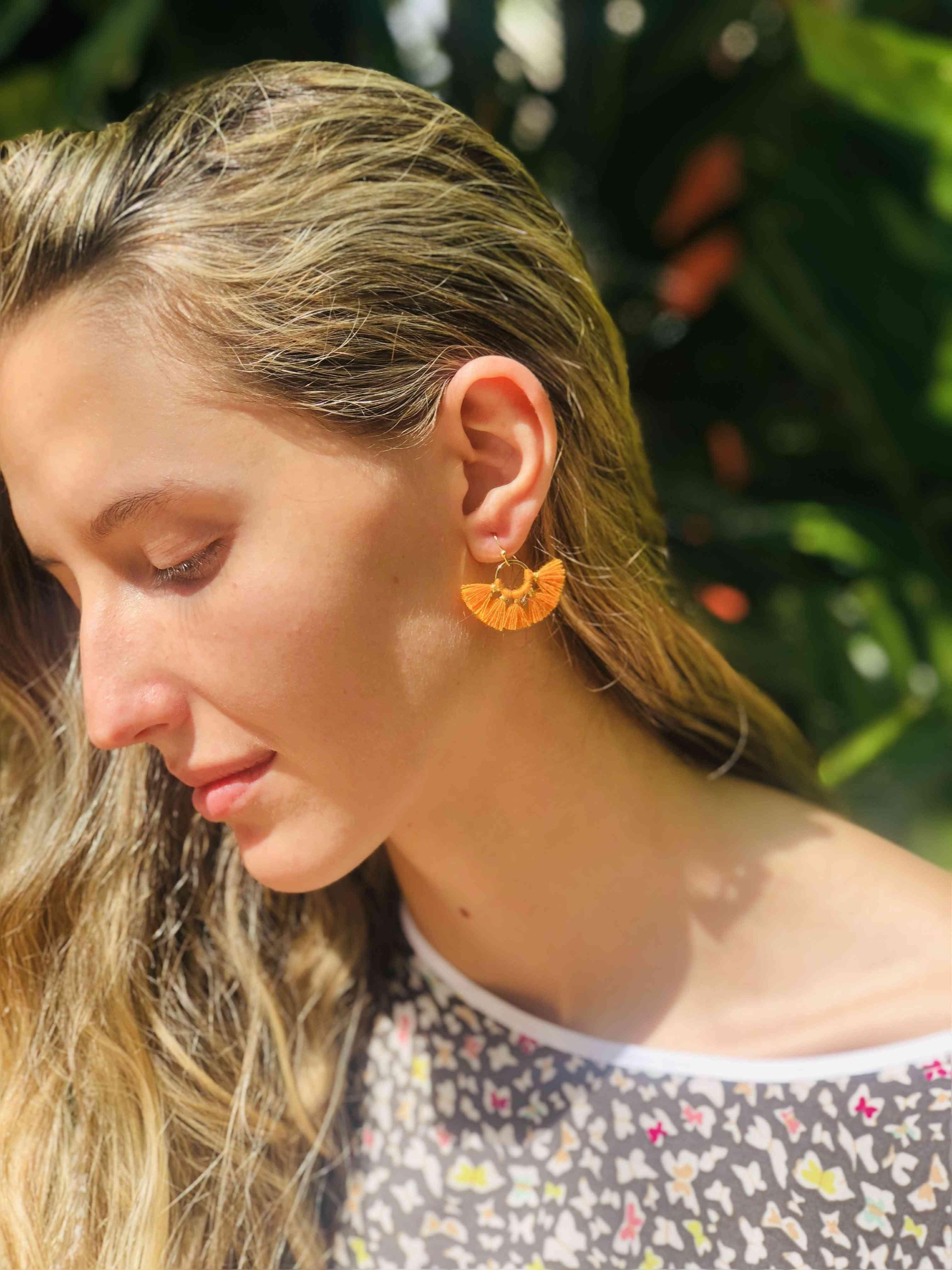 Mini Mariah Fan Earrings