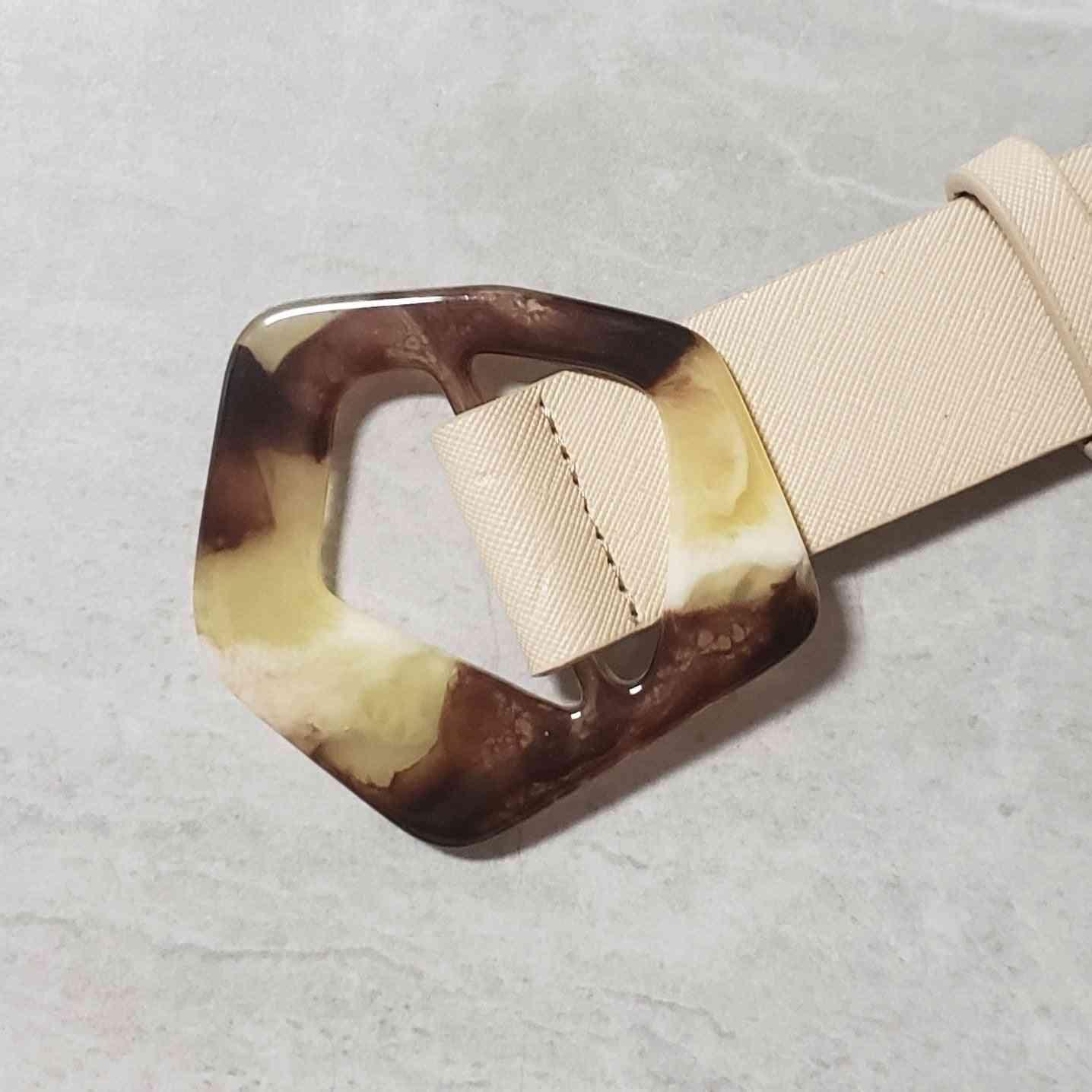 Pentagon Shape Buckle Waist Belt