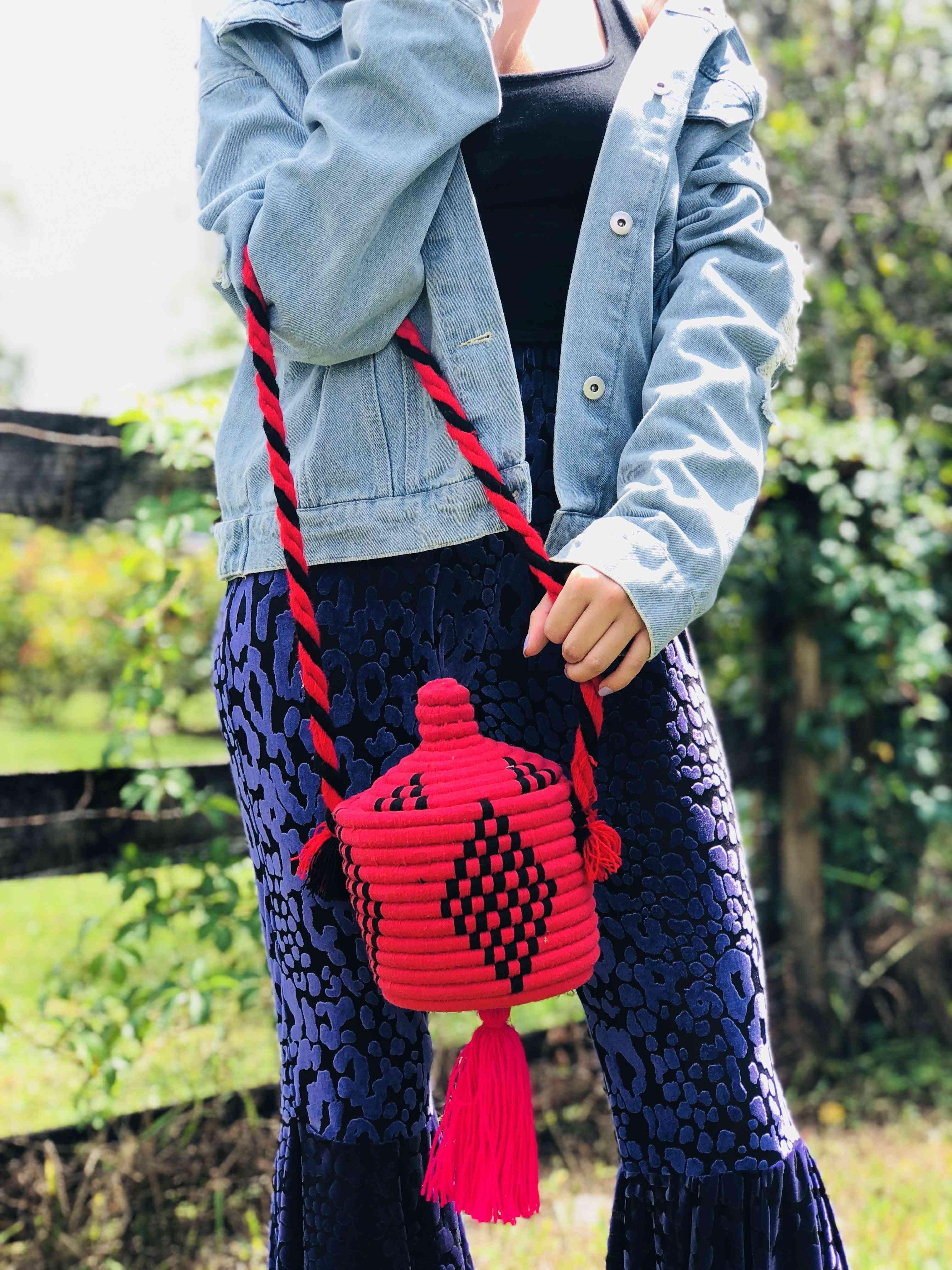 Handmade Traditional Bead Bucket Bag