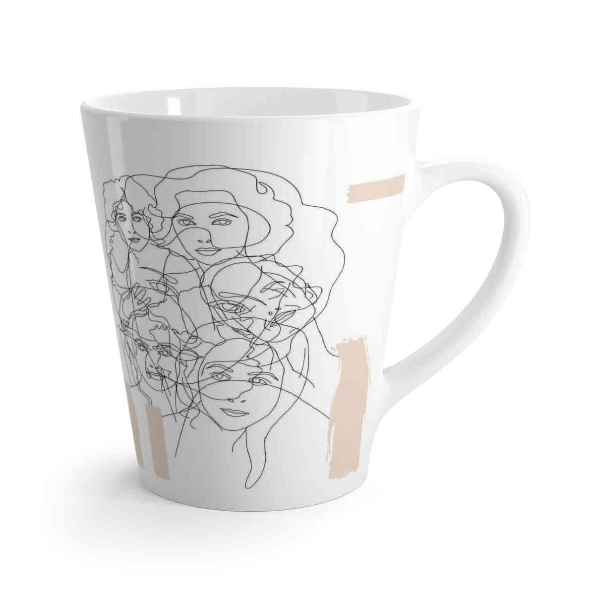 Interconnected Beige Latte Mug