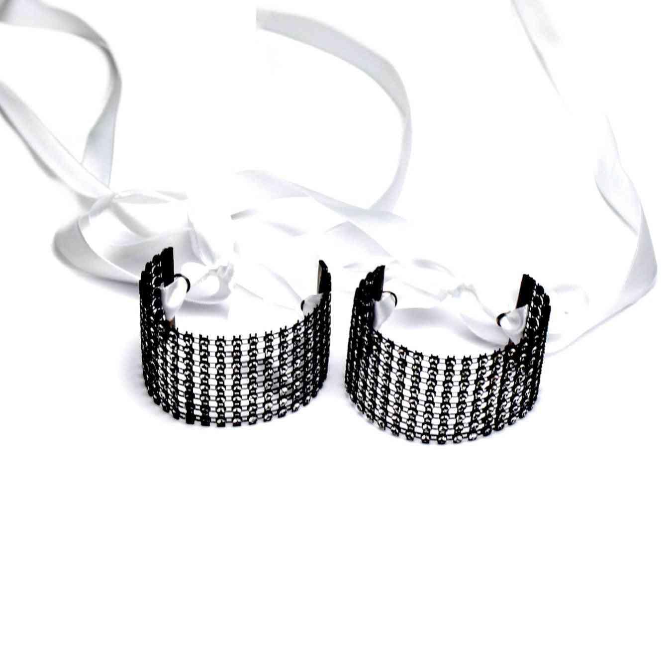 Sparkly Rhinestone Mesh Handcuffs