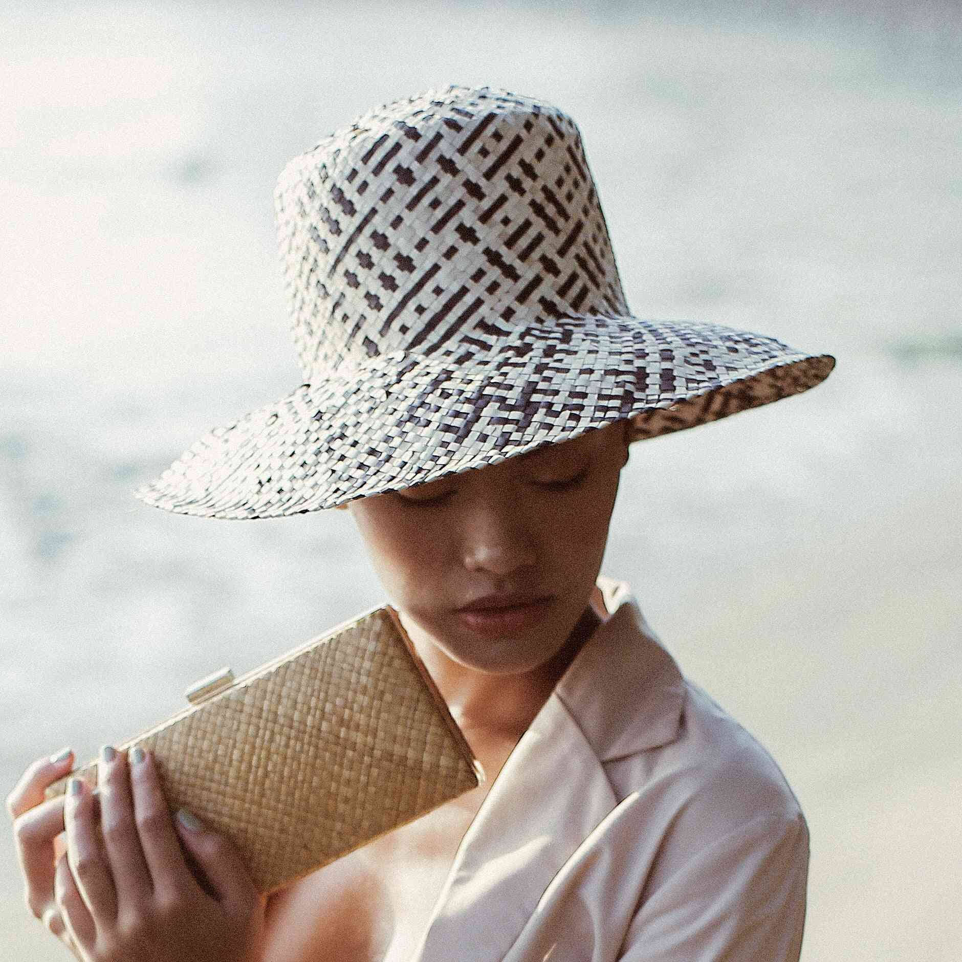 Lontar Straw Bucket Hat